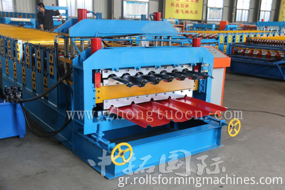 Double Layer for Glazed and Trapezoidal Roof Tile Machine 03